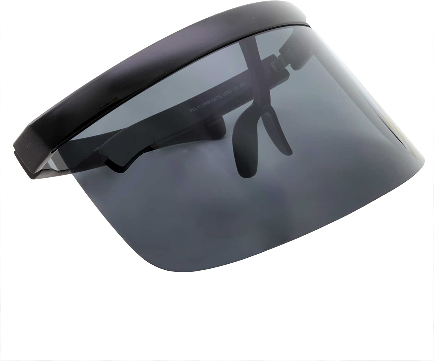 Futuristic Oversize Face Shield Visor Sunglasses Flat Top