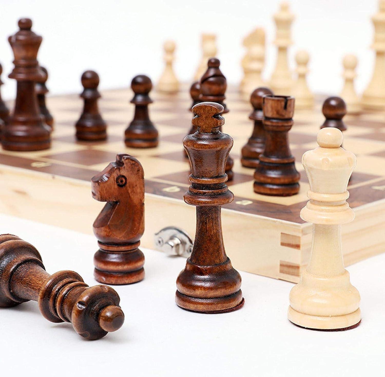 NEW ZHZHUANG Chess Cheap Set, Board Wooden Folding Set,Magnetic