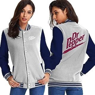 Soft Drink Dr Pepper Women's Baseball Jacket Uniform Jacket Sports Jersey Jacket Plus