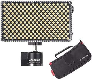 Aputure AL-F7, Aputure H198 Upgrade Ver 256 LED Bi-Color Dimmable Led Video Light, CRI95+ TLCI95+, 3200-9500K, Stepless Brightness, Multiple Power Supply Methods, Lightweight with PERGEAR Cloth