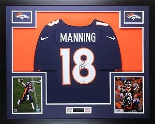 peyton manning signed framed jersey