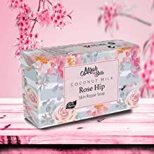 Mirah Belle - Coconut Milk, Rosehip Soap Bar (125 GM) - BUY 2 GET 1 FREE - For Dry and Rough Skin - Moisturising, Softening and Smoothening Skin - Best for Winters - Handmade, Vegan and Cruelty Free - 125 gm