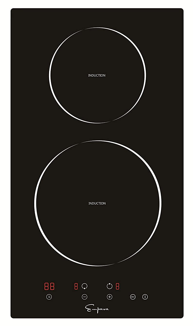 """Empava EMPV-IDC12 12"""" Induction Cooktop Electric Stove Black Vitro Ceramic Smooth Surface Glass 3000 Watts"""