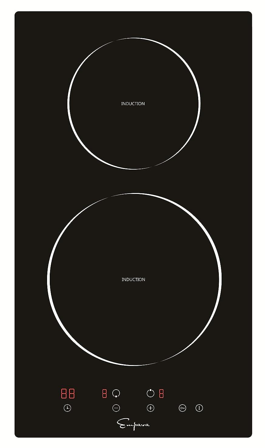 "Empava EMPV-IDC12 12"" Induction Cooktop Electric Stove Black Vitro Ceramic Smooth Surface Glass 3000 Watts vwcszeymgddxs0"