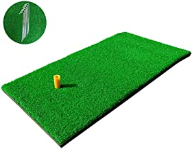 """RELILAC Golf Hitting Mat - 12""""x24"""" Residential Practice Grass Mat with Rubber Tee Holder - Premium Turf Mat Ideal for Indoor & Outdoor"""