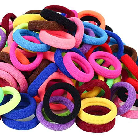 Details about  /100X Kids Girls Elastic Scrunchies Rubber Hair Ties Ponytail Holder Band Rope