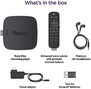 Roku Ultra | Streaming Media Player 4K/HD/HDR with Premium JBL Headphones