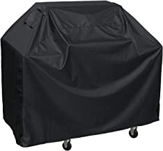 BBQ Gas Grill Cover, 58 inches Heavy Duty Waterproof Barbecue Cover with Double Stitching and Heat Sealed Seams, 600D Oxford Rip-Stop Grilling Cover for Brinkmann, Char Broil