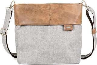 Zwei Olli OT8 Tasche Damen Umhängetasche Schultertasche 25x23x10 cm (BxHxT), Farbe:, Ice (Grau/Braun), One size