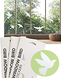 Anti-Collision Window Alert Bird Stickers Silhouettes Glass Door Protection and Save Birds, Transparent (2 Packs +1 Pack,T...