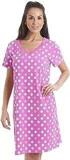 Camille Nightwear Sleepwear Multi-Coloured Star Fuchsia Pink Cotton Nightdress