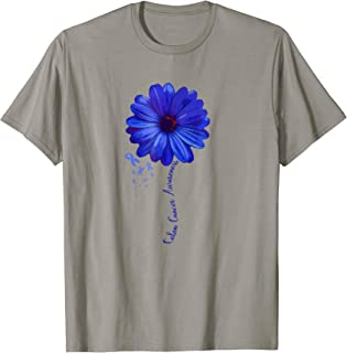 Colon Cancer Awareness Family T-shirt Survivor Pretty Gift
