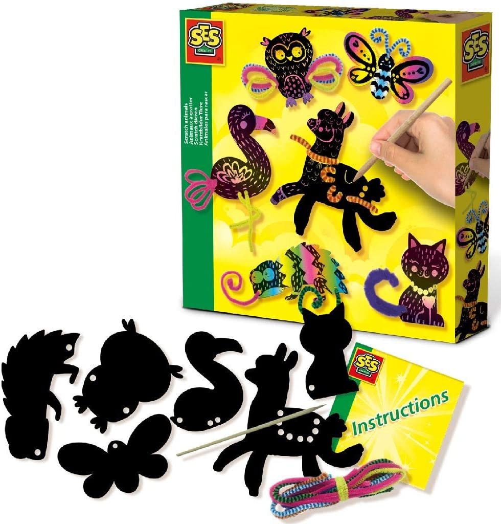 2021 autumn and winter new SES Creative 14006 Now free shipping Scratch Colours Diverse Animals
