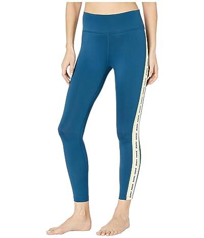 Nike One Tights (Valerian Blue/Limelight/Black) Women