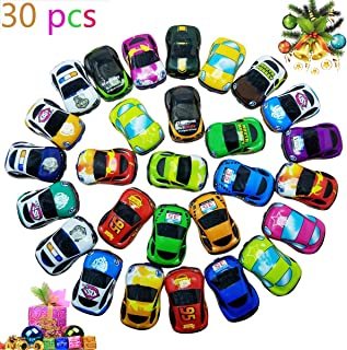 Pull Back Vehicles,30 Pack Friction Powered Pull Back Car Toys,  Vehicles and Racing cars Mini Car Toy For Kids Toddlers Boys,Pull Back and Go Car Toy..