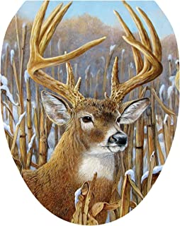 Toilet Tattoos, Toilet Seat Cover Decal, Crowning Glory Deer, Size Elongated