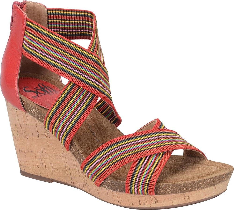Soft bily kvinnor kvinnor kvinnor US 8 röd Wedge Sandal  det senaste varumärket outlet online