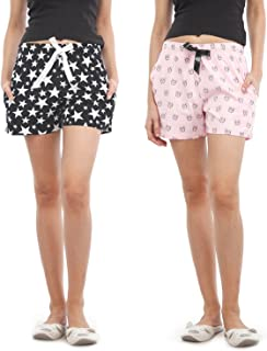 NITE FLITE Women Cotton Shorts | Pack of 2
