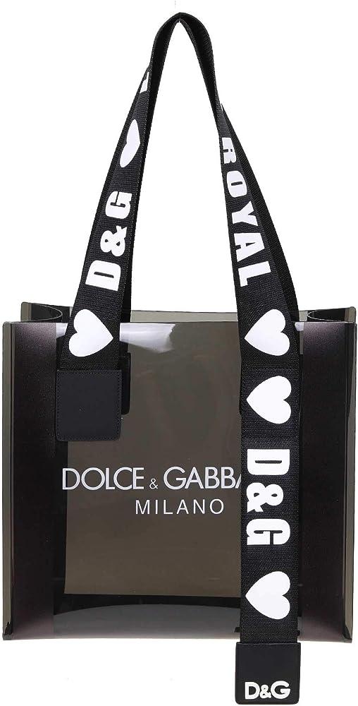 Dolce & gabbana luxury fashion,borsa per donna,100% pvc lucido e pelle BB6696AK432HJY63