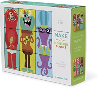 Crocodile Creek Make-A-Critter Blocks Monster Faces and Shapes Mix and Match Block Stacking Sets Toy