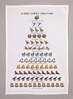 Allport Editions Bird Lover's Christmas - Tea Towel - 12 Days of Christmas Series