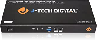 J-Tech Digital ProAV 1X8 HDMI Extender HDMI Amplifier HDMI Splitter Over Ethernet Cable with Bi-Direction IR and EDID Functions (1x8)