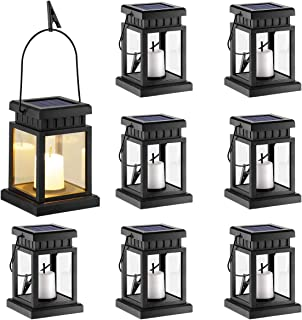 backyard hanging lanterns