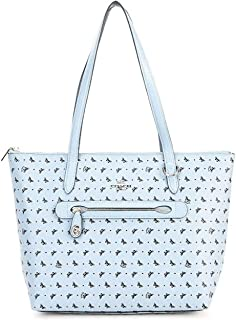 Coach Butterfly Taylor Tote #67364 Women's Handbag, Leather, SV/Cornflower