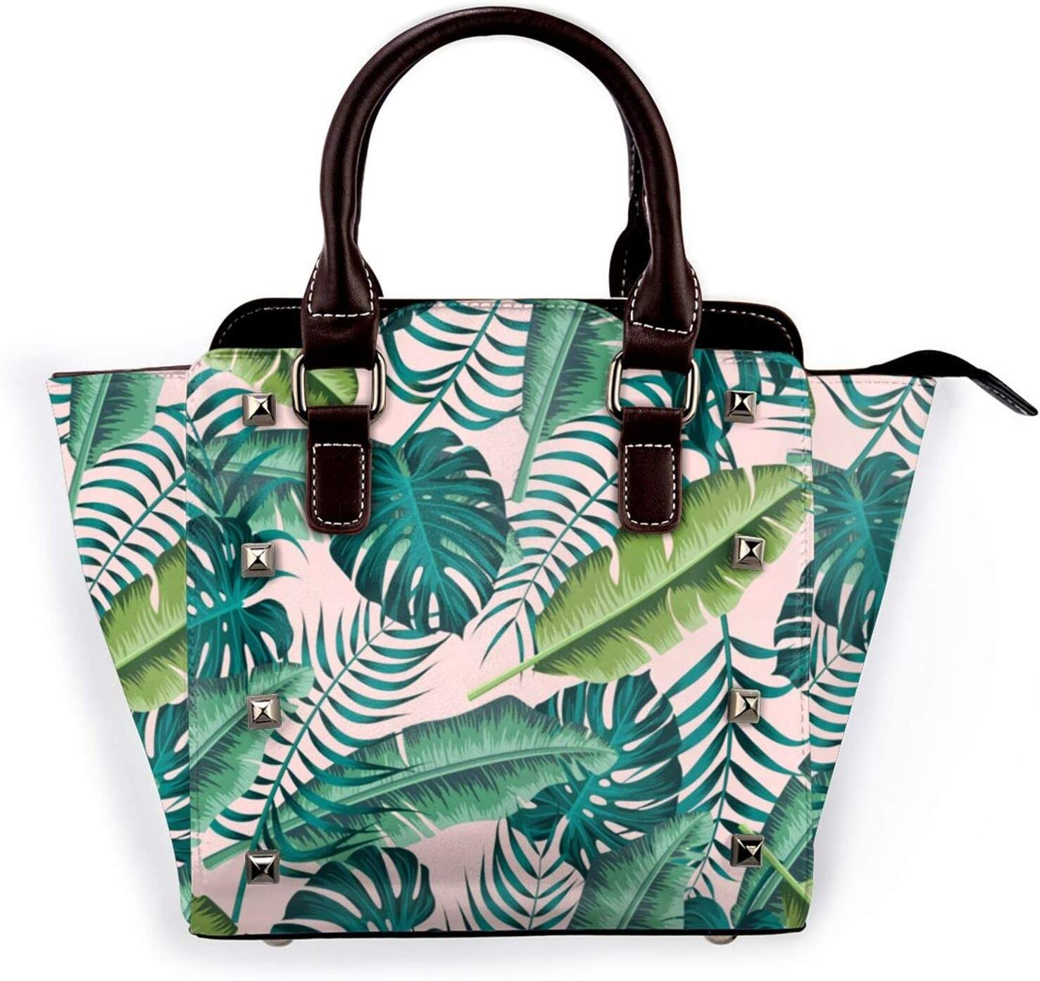 Tote Bag Tropical Max 73% OFF Leaves Pattern Non-Fad 3D 67% OFF of fixed price Printed Shoulder