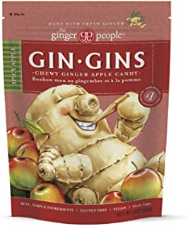 The Ginger People Gin Gins Spicy Apple Ginger Chews, 3 Ounce, Pack of 12