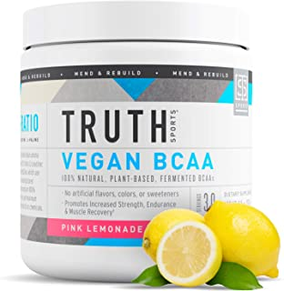 Truth Nutrition Fermented Vegan BCAA Powder- 2:1:1 Ratio All Natural Branched Chain Amino Acids for Energy,...