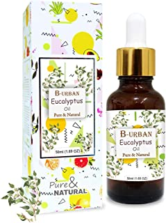 B-URBAN Eucalyptus OIl 100% Natural Pure Undiluted Uncut Essential Oil (Eucalyptus, 50ml)
