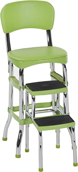 Cosco Green Retro Counter Chair Step Stool