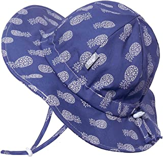 JAN & JUL UPF 50+ Cotton Sun-Hat, Adjustable with Strap, for Baby Boy, Girl, Toddler and Kids