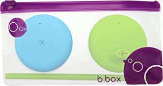 b.box Universal Silicone Sippy Lid & Straw Top Travel Pack | Fits Most Standard Cups Turning Them into a Sippy Cup or Cup with Straw | Color: Ocean Breeze | 1 Sippy Cup Lid & 1 Lid with Straw