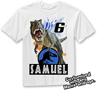 Jurassic World Dinosaurs Custom T-shirt, Dinosaur Birthday Shirt