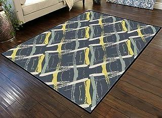 Large Area Runner Rug Movie Mat Wicker Weave Dense Seamless Pattern Background Painterly Brush Non-Slip Floor Mat Doormats...