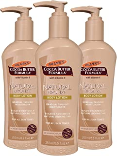 Palmer's Cocoa Butter Formula Natural Bronze Body Lotion, 8.5 Ounces (Pack of 3)
