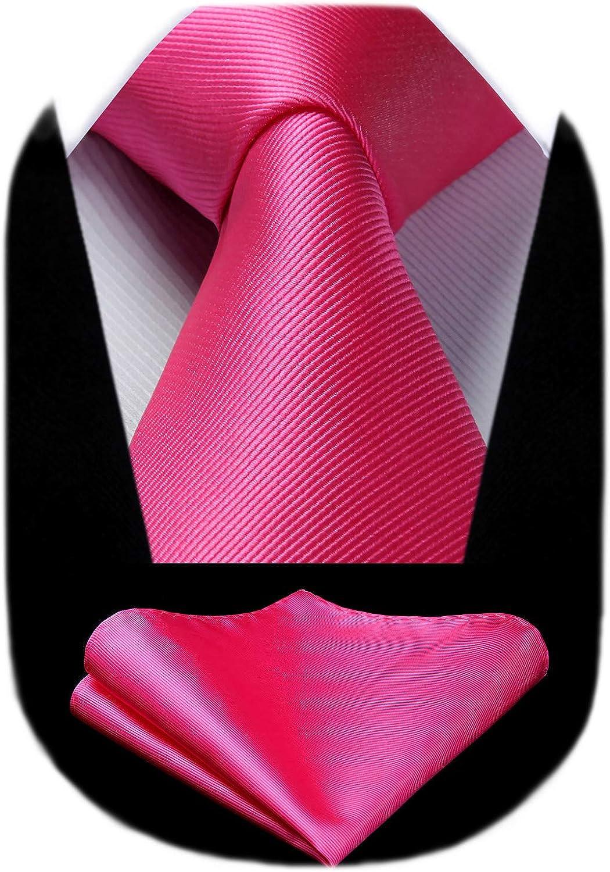 HISDERN Solid Color Ties for Men, Formal 3.35