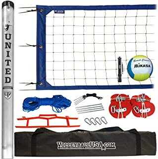 """2"""" SS: Semi-Serious High Strength Volleyball Net System with Mikasa Super Soft and Ball Pump"""