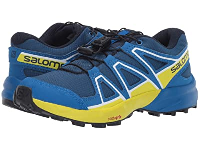 Salomon Kids Speedcross (Little Kid/Big Kid) (Poseidon/Sky Diver/Sulphur Spring) Kids Shoes