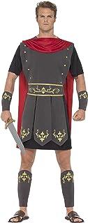 Smiffys-45495S Disfraz de Gladiador Romano, con túnica,
