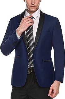 COOFANDY Men's Slim Fit Suit Jacket One Button Casual Blazer Jacket