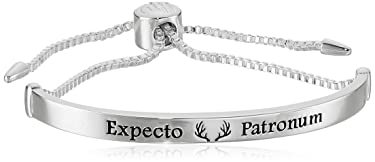 """Harry Potter Silver Plated """"Expecto Patronum"""" Lariat Silver Bracelet"""