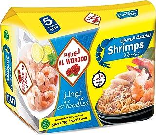 AL WOROOD Shrimps Noodles 70 g, pack of 5
