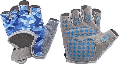 Halfvingerhandschoenen, fitnessaccessoire Flexibele kinderfietshandschoenen Blauw Paardrijden voor thuis buiten