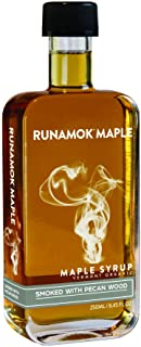 Runamok Maple Pecan Wood Smoked Maple Syrup - Authentic & Real Vermont Syrup | Strong Flavor | Great for BB...