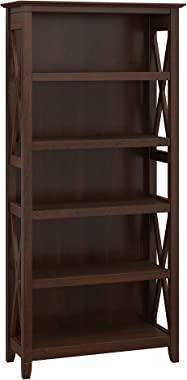 Bush Furniture Key West 5 Shelf Bookcase in Bing Cherry