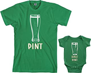 Pint & Half Pint Infant Bodysuit & Men's T-Shirt Matching Set