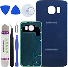 LUVSS New Back Glass Replacement for [Samsung Galaxy S6] G920 (All Carriers) Rear Cover Glass Panel Case Door Housing with Opening Tools Kit (Blue)